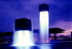 """Again, it is not an optical illusion, but it is a good example of how to think different ! Isamu Noguchi last work for the world expo in Osaka, japan is """"Nine floating Fountains"""", where as he expanded water tap illusion one step further to create incredible fountains that looks like they are flying. Not only is it real, it was built over 40 years ago for the 1970 #Osaka World Expo. This was one of nine fountains Nogucgi designed for the Expo.  https://www.facebook.com/JapanAA"""