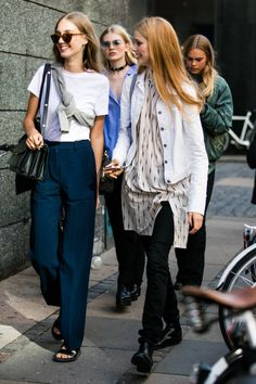Best of Copenhagen FW Street Style Looks Chic, Looks Style, My Style, Style Hair, Date Outfit Casual, Casual Outfits, Denim Fashion, Fashion Outfits, Womens Fashion