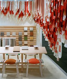 the picnic by raw edges - textile installation made of 1500 kvadrat straps.