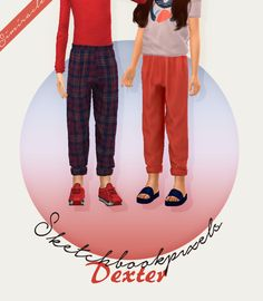 Sketchbookpixels Dexter - Kids Version - ♥ pants for your kids 50 swatches credit goes to [SimFileShare] Sims 4 Cc Kids Clothing, Kids Clothes Boys, Kids Outfits Girls, Girl Outfits, Sims 4 Toddler, Toddler Pants, Kids Pants, Sims 4 Mac, Sims Cc