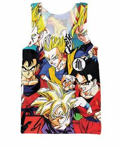 Dragon Ball Z Tank Gohan 3D Tank Tops Fashion. 100% Cotton and Polyester blend, custom made sublimation printed technique and hand sewn hoodies, t-shirts, and long sleeves clothing.   For our 3D clothing, unless there is a picture on the back for our product images, all of our 3D clothing are printed front and back with the same image.                 FREE Shipping  NOT SOLD IN STORES          Gender: Unisex  Material: Cotton, Polyester Spandex Blend Machine Washable and Dryer Safe     Be...