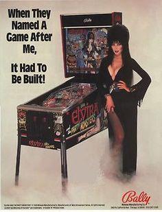 Elvira: Mistress of the Dark Bally pinball Monster S, Monster Party, Party Monsters, Vintage Video Games, Vintage Games, Retro Games, Pinball Wizard, Nostalgia, Cassandra Peterson