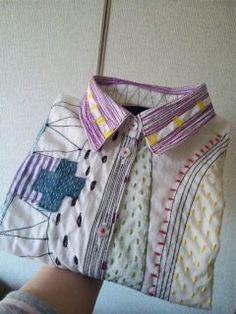 shirts+collage+sashiko
