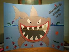 Shark photo booth prop