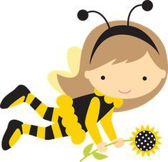 Bumble Bee Girl Clip Art   50¢ Store - Miss Kate Cuttables   Product Categories Scrapbooking SVG ...