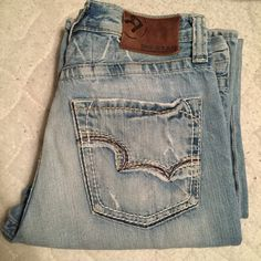 Mens big star jeans Distressed style, barely worn. In great condition. Ask me any questions! Size 30 LONG light wash Big Star Jeans Boot Cut