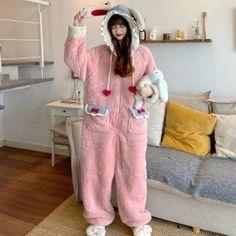 Tomboy Fashion, Cute Fashion, Fashion Outfits, Pyjamas, Pjs, Mode Kawaii, Kawaii Dress, Cute Pajamas, Animal Fashion
