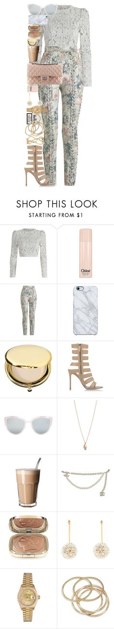 """There are many things that we would throw away if we were not afraid that others might pick them up."" by quiche ❤ liked on Polyvore featuring Zimmermann, Chloé, Uncommon, Estée Lauder, Gianvito Rossi, Topshop, Minor Obsessions, Chanel, Dolce&Gabbana and Lele Sadoughi"