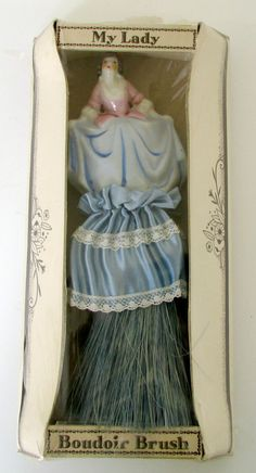 Vintage Boudoir Brush Lady Doll Clothes Brush by nanascottagehouse