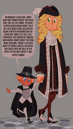 Little Alfred and Arthur in 17th century New England; I like the idea of Alfred having been a very talkative child :) - Art by sully-s.tumblr.com