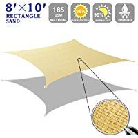 rectangle sun shade sail canopy for patio with d rings 4th generation beige shade sail pinterest