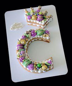 Girly Birthday Cakes, Number Birthday Cakes, Make Birthday Cake, Number Cakes, Happy Birthday, Creative Cake Decorating, Cake Decorating Tutorials, Cake Images, Cake Pictures