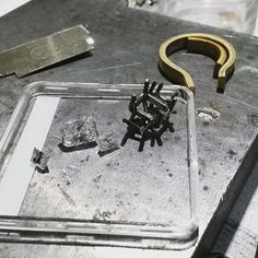 What it looks like about halfway through the making process  #engagementring #making #handmade #jeweller #workshop #custom #diamondring #gold #jeweler