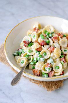 Orecchiette with Peas, Pancetta & Cream image