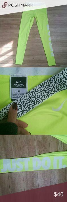 Nike dri-fit XS leggings Neon Yellow Neon Yellow dri fit polyester spandex leggings Nike Pants Leggings