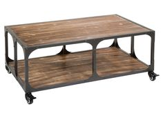 Mesa de centro industrial Decor, Furniture, Wood, Industrial Furniture, Interior Architecture, Table, Table And Chairs, Wood Design, Coffee Table