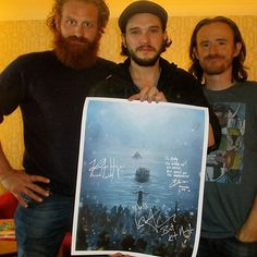 Kristofer Hivju, Kit Harington and Ben Crompton