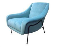 Single Mid Century Club Chair Attr Pierre Guariche  MidCentury Modern, Modern…