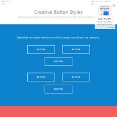 http://tympanus.net/Development/CreativeButtons/ Some very cool/subtle button, link and icon css effects.