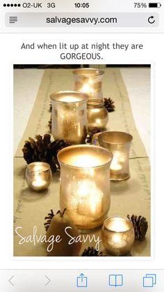 DIY gold mercury jars