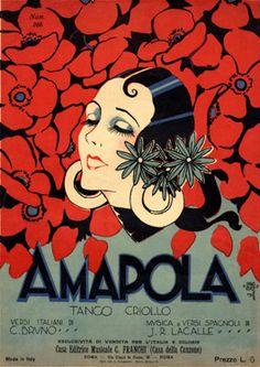 Cover Sheet Music by Carlo InnoCenzi (1899-1962), 1928, Amapola. (I)