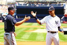Chipper Jones and Derek Jeter: Chipper's last game at Yankee Stadium