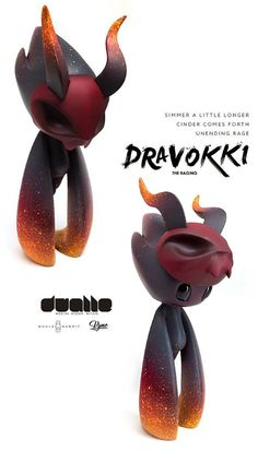 "SpankyStokes.com | Vinyl Toys, Art, Culture, & Everything Inbetween: Whalerabbit reveals ""Dravokki"" resin art multiple!..."
