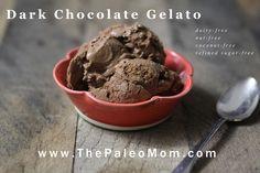 Dark Chocolate Gelato (dairy-free, nut-free, coconut-free)