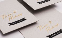N wedding invitation by LSDK , via Behance