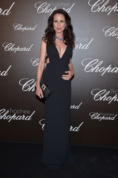 PARIS, FRANCE - MAY 22:  Andie MacDowell attends the Chopard Trophy photocall at Hotel Martinez on May 22, 2017 in  (Photo by Pascal Le Segretain/Getty Images) via @AOL_Lifestyle Read more: https://www.aol.com/article/entertainment/2017/05/23/cannes-film-festival-2017-day-6/22105408/?a_dgi=aolshare_pinterest#fullscreen