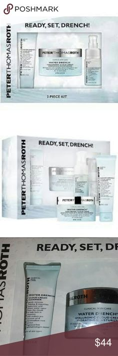 BNIB LE Peter Thomas Roth Ready, Set, Quench Set! BNIB LE Peter Thomas Roth Ready, Set, Quench Set for Holiday 2017! Wonderful gift or a special treat for yourself, especially in dry winter. Guaranteed authentic! More:   Bundle to save $$$$! Retail $52 taxes!  #skincare #ptr #peterthomasroth #drench :cloudcream #gift #holiday2017 Peter Thomas Roth Makeup Face Primer