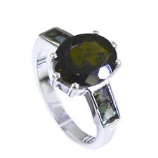fine-looking Tourmaline Silver Multi Ring handcrafted L-1in US 5678