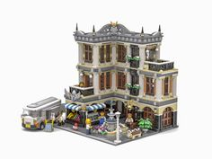 The Fountain Square - Lego - Lego Modular, Casa Lego, Modele Lego, Fountain Square, Lego Moc, Lego Lego, Lego Games, Lego Castle, Cool Lego Creations