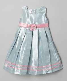 Love this Silver & Pink Rosette Leonor Dress - Infant, Toddler & Girls on #zulily! #zulilyfinds