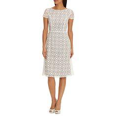 Купить Betty Barclay Graphic ситцевом платье, крем / темно-серый онлайн в johnlewis.com