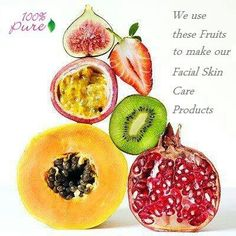 100 Percent Pure skin care with all natural ingredients include amazing fruits and antioxidants