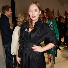 Tanya Burr seen at Burberry. Celebrity Frow: Fashion Week AW15