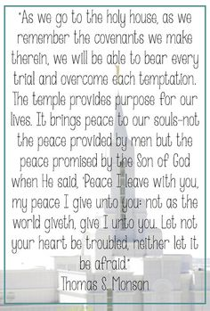 LDS Temple Quotes #LDSQuotes #MormonLink.com Find more LDS inspiration at: www.MormonLink.com