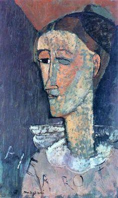 Italian painter and sculptor Amedeo Modigliani (1884-1920)