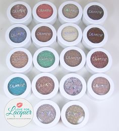 LOVE FOR LACQUER: ColourPop Eyeshadows - Swatches & Review (18 Shades) + GIVEAWAY!