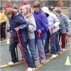 Great Simple Team Building Games for older kids and a couple the little ones…