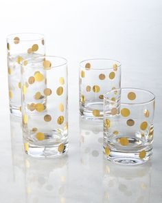 kate spade dot glassware. It matches my phone case. Which means I must have them!