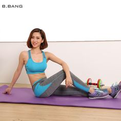 5f0479fd78905 B.BANG 2016 Women Yoga Sets Patchwork Clothes Suits Sport Bra Running Gym  Fitness Clothing