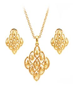 Italian gold pendant set by manubhai jewellers shop online at wholesale pendant sets from china teemtry aloadofball Image collections