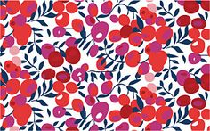 A sample Liberty-style pattern design - this is what a non-directional repeat pattern looks like. It still makes sense no matter which way it's turned.