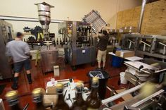 Bottling line in action at Adelbert's Brewery in Austin, TX Photo by: Keving Gourley