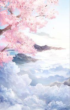 Anime Backgrounds Wallpapers, Anime Scenery Wallpaper, Landscape Wallpaper, Pretty Wallpapers, Animes Wallpapers, Fantasy Art Landscapes, Fantasy Landscape, Fantasy Artwork, Aesthetic Art