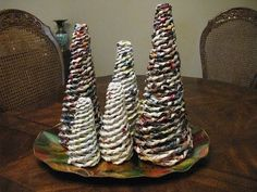 Rolled Paper Christmas Trees - YouTube