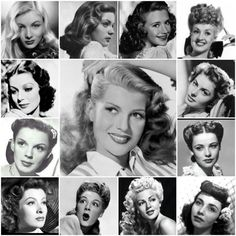 1940s screen goddesses and their amazing hairstyles (when every woman looked beautiful... What happened?!!)