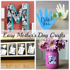 I always loved the creative and adorable gifts that my kids would bring home from pre-school, now I will share some super cute and easy Mother's Day crafts for kids that I found to try out this year!!